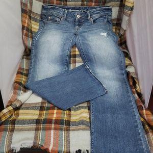 American eagle, stretch, slim, boot cut, jeans